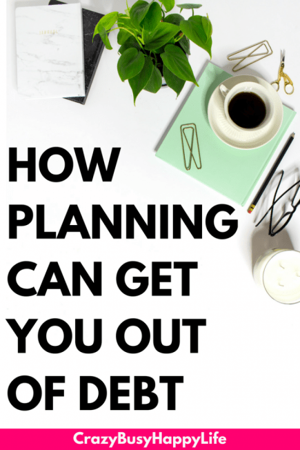 Learn how to get out of debt by planning and organizing. #debt #debtsnowball #planner #organize #money