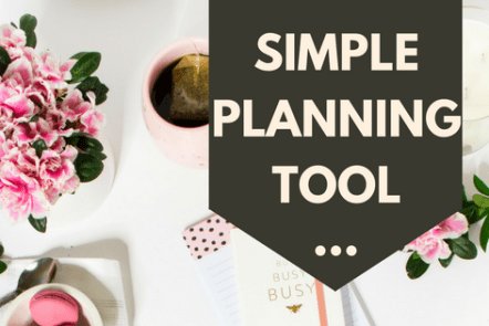 This simple planning tool will help you. Blank planner page