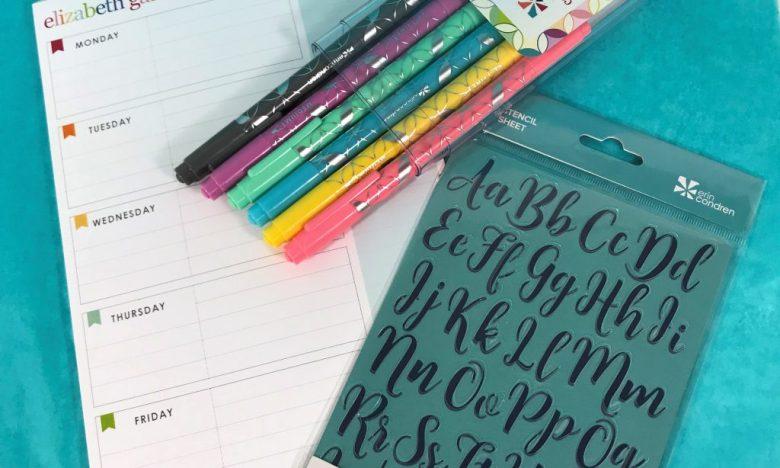 Erin Condren planner accessories