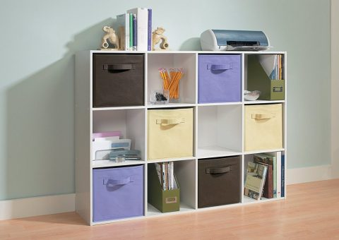 cubed office organizer shelves