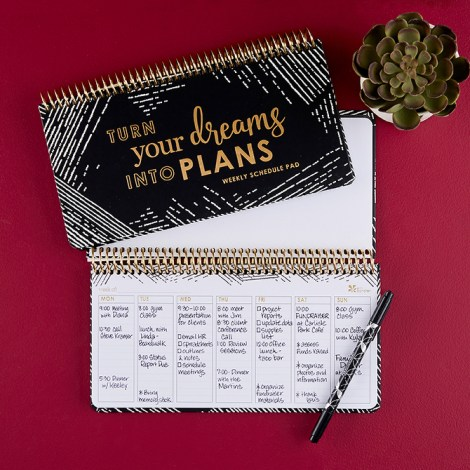 Slim weekly scheduler, on-the-go