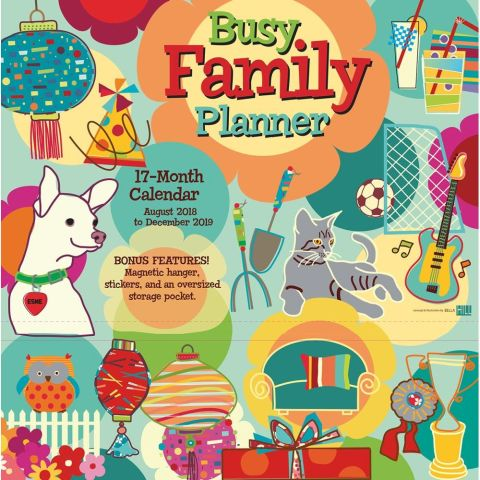 Busy Family wall calendar and planner. Perfect for every busy mom on your shopping list.
