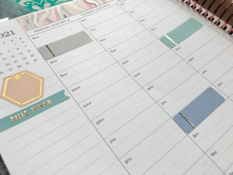 Erin Condren Lifeplanner with sticker designs