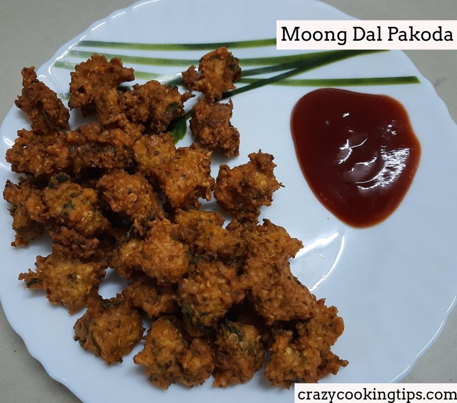 Moong Dal Pakoda (Moongode) Recipe