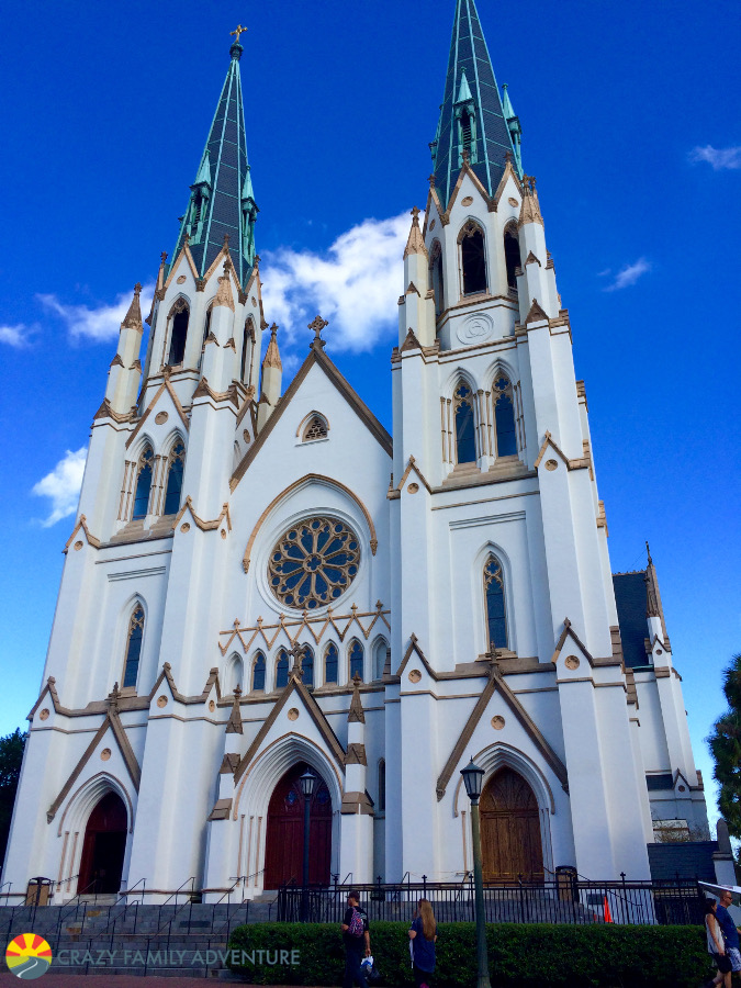 St. John the Baptist Cathedral is a nice stop in Savannah with kids