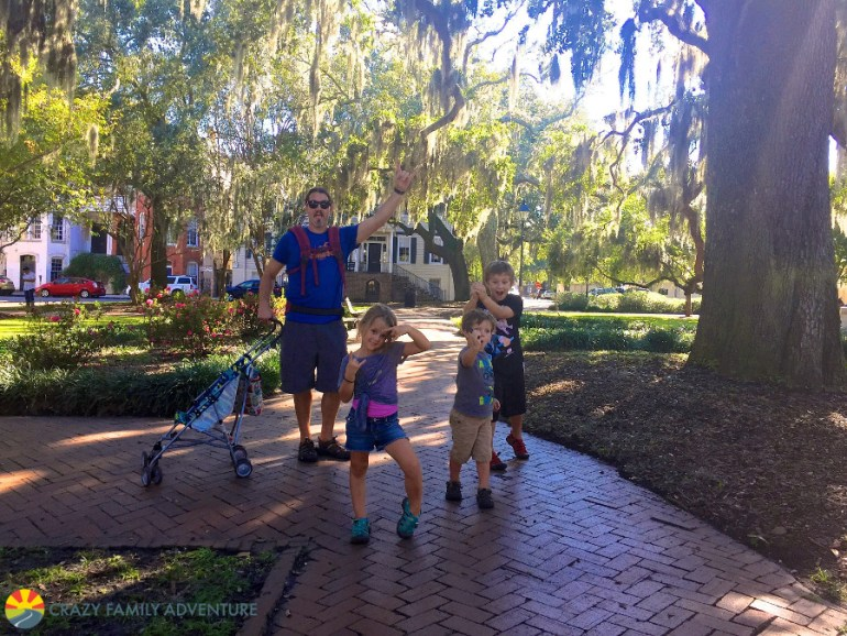 Visiting all the squares was one of the great things to do with kids in Savannah