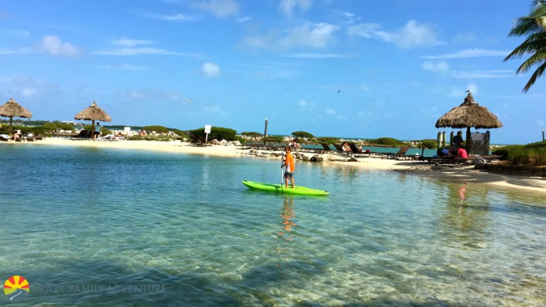 Carson SUP'ing it up in the Hawks Cay lagoon