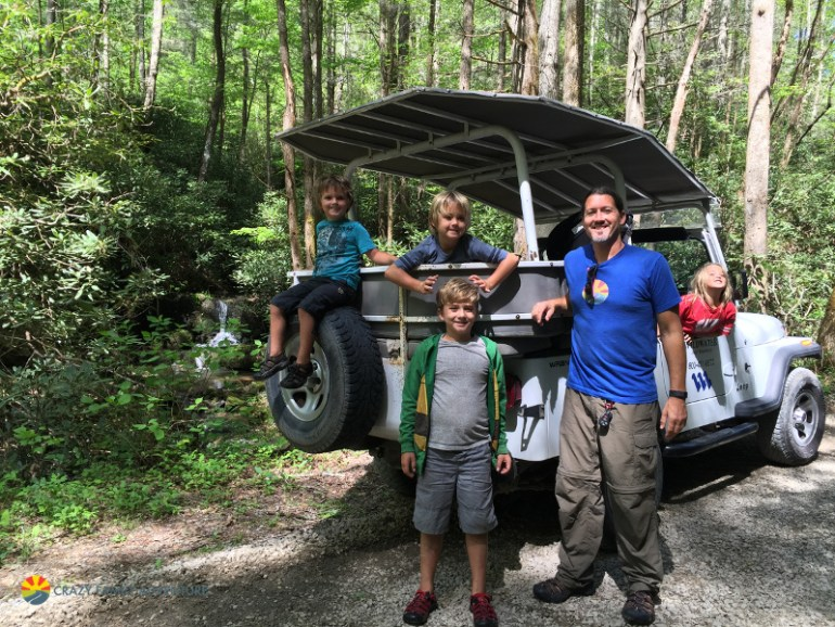 Jeep tour of the Smokies is one of the great things to do in Asheville with kids