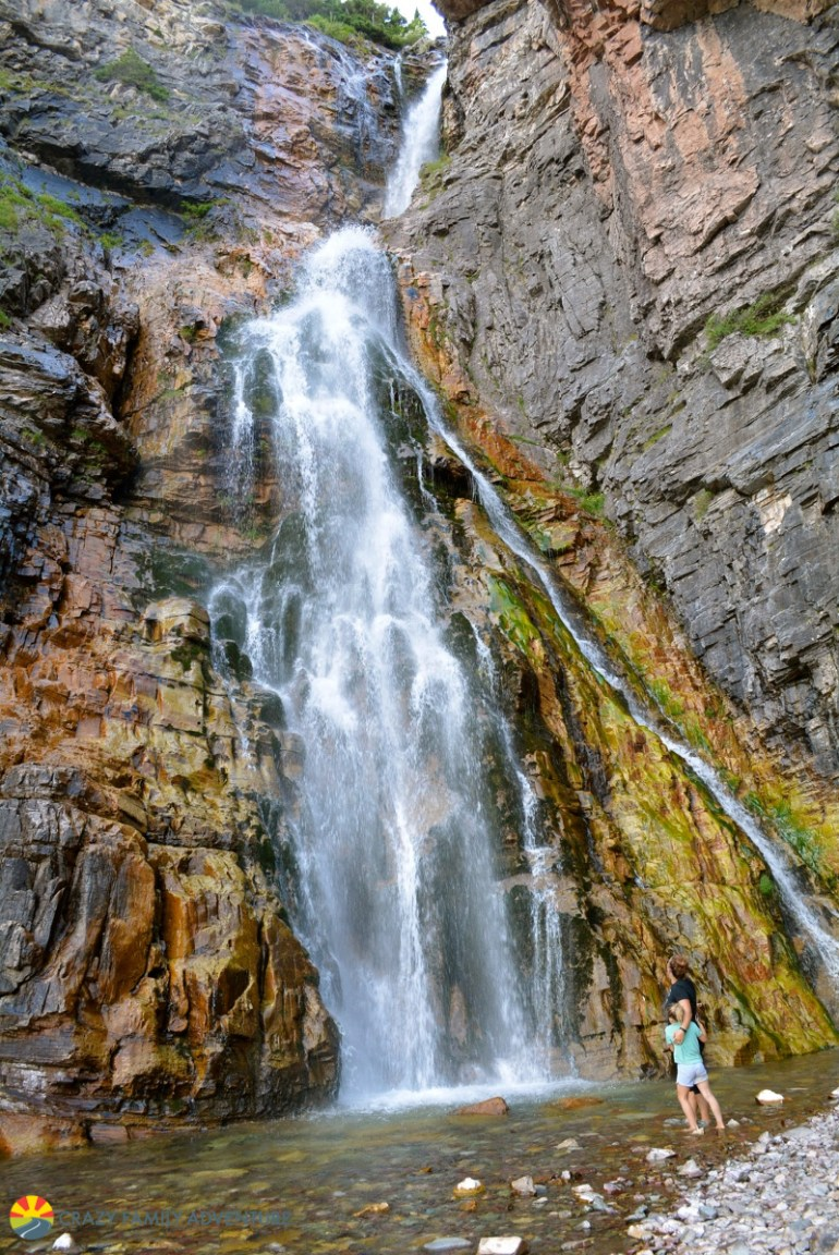 Apikuni Falls is #4 on our list of best hikes in Glacier National Park with kids