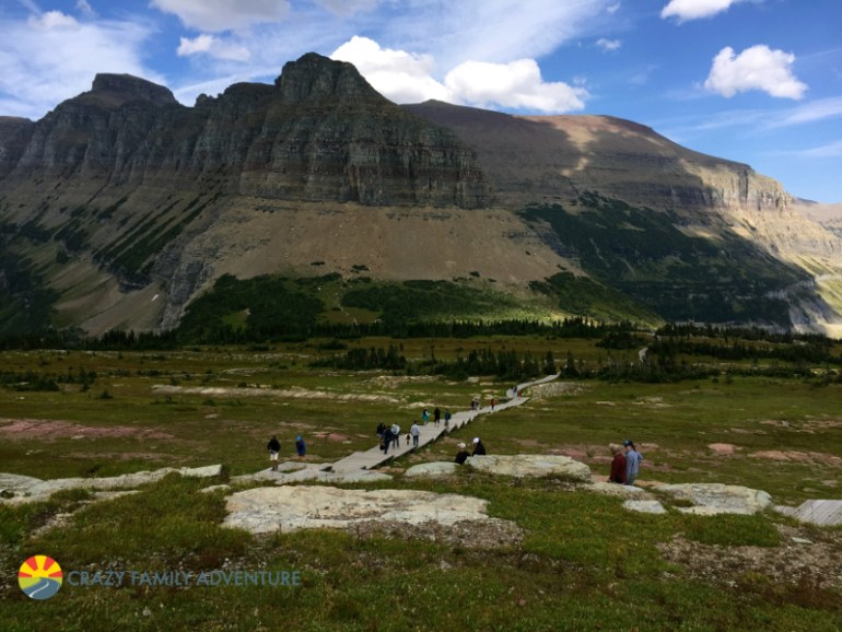 Coming back down the trail to Hidden Lake towards Logan Pass in Glacier National Park