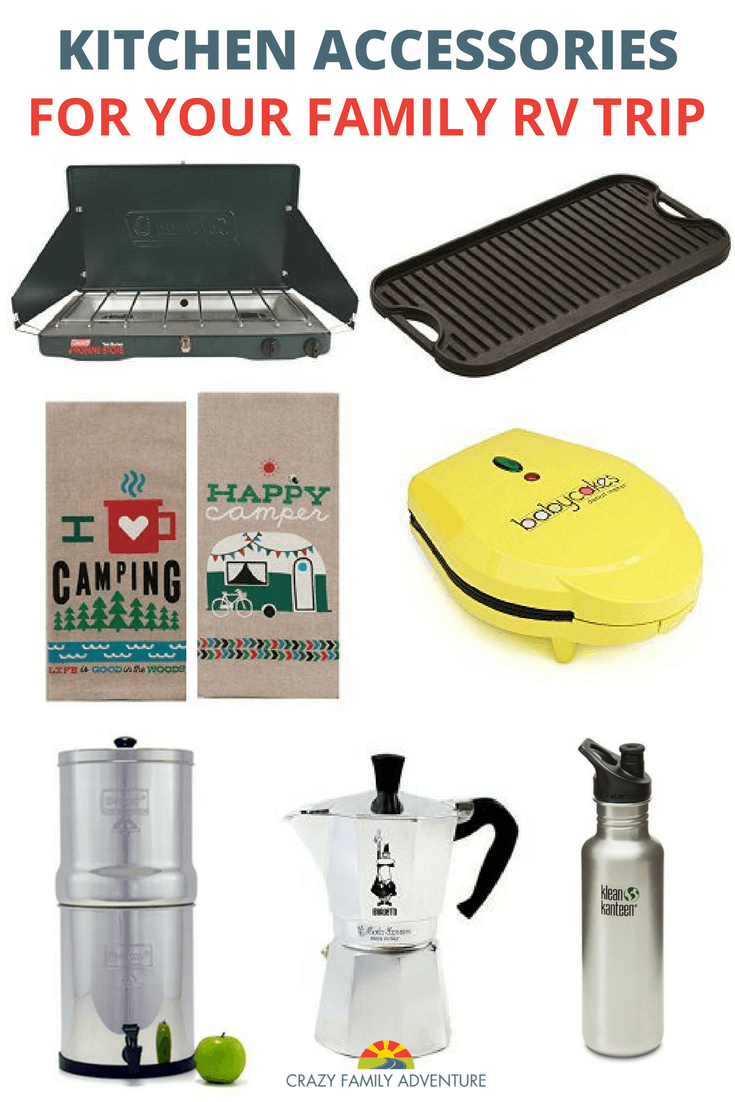 rv kitchen accessories for your family rv trip - crazy family