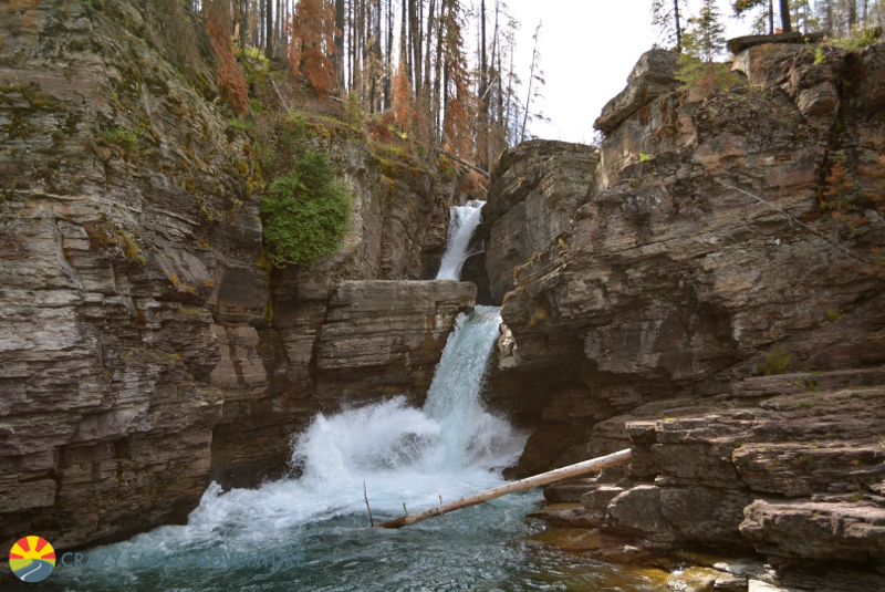 St Mary Falls in Glacier National Park