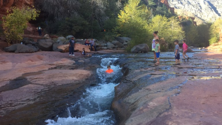 Sliding Rock State Park in Sedona, AZ