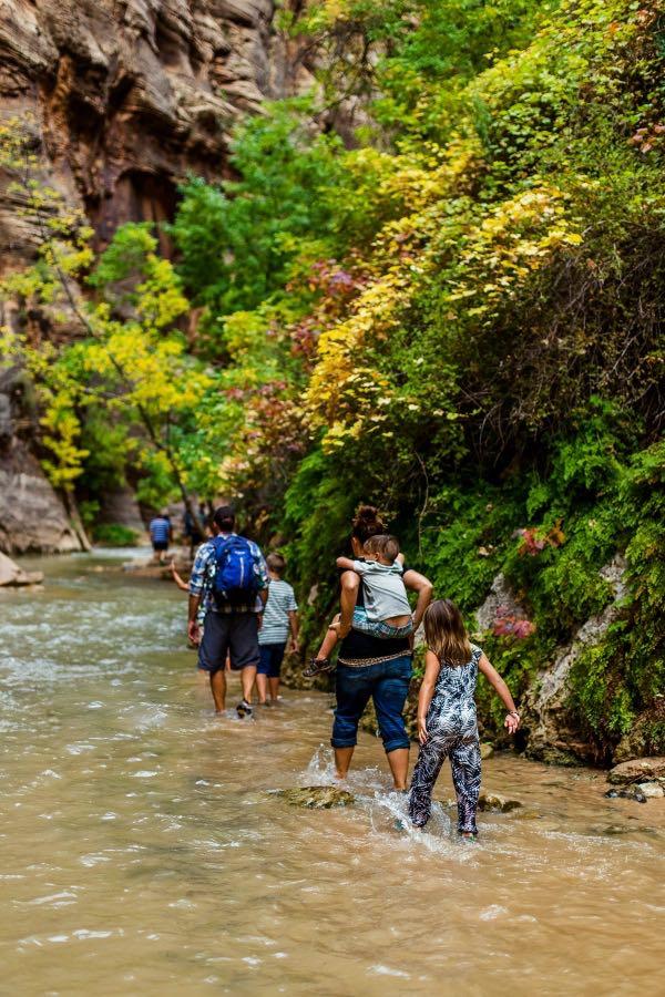 Very fun creek walk on the Utah Road Trip