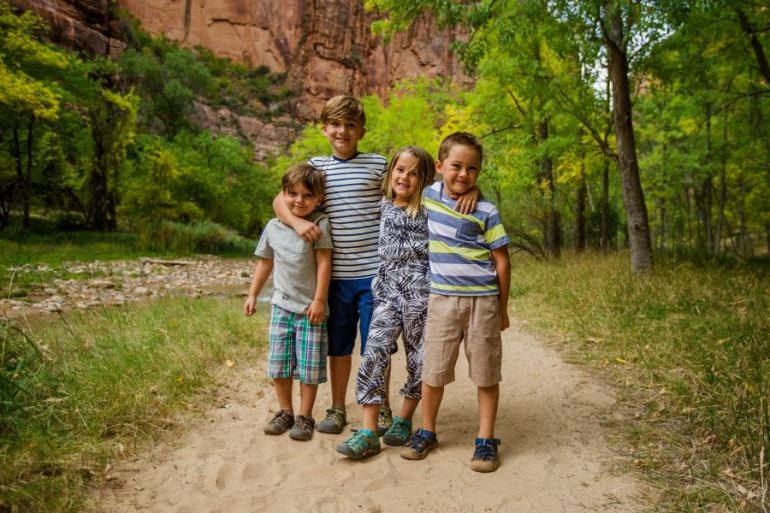 The kids loved this stop on the ultimate Utah road trip at Zion National Park