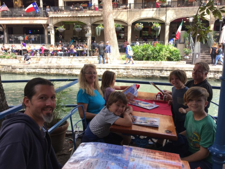 Eating lunch at one of the many restaurants on the Riverwalk was a great experience! The kids loved waving to all the passengers on the Riverwalk Barge.