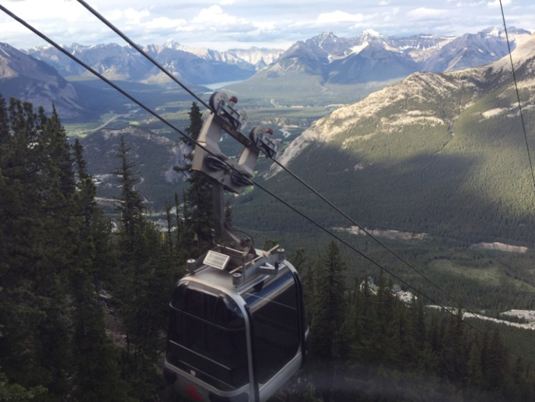 The Banff Gondola was one of our favorite Banff attractions as you get a fantastic view of the town and surrounding mountains.