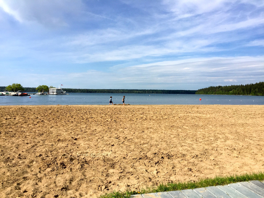 Clear Lake Beach is a great spot to spend the day in Riding Mountain National Park
