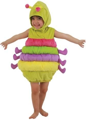 cute little girl in caterpillar costume