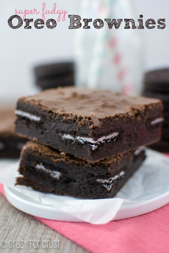 Oreo Brownies | crazyforcrust.com| Super fudgy and oh so amazing!
