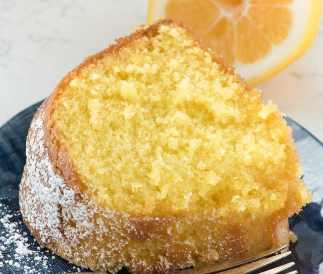 Easy Lemon Butter Cake Starts With A Cake Mix And Has The Perfect Lemon Flavor