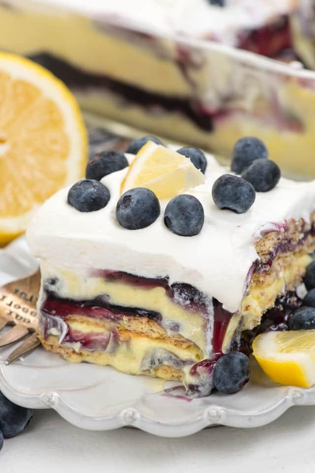 Blueberry Lemon Icebox Cake  Crazy for Crust