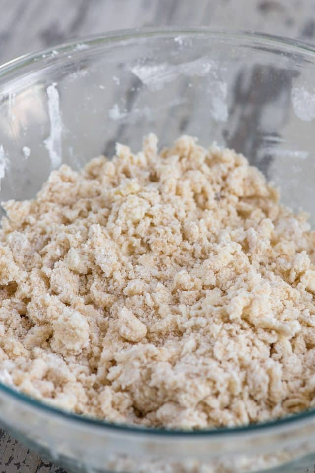 bowl of crumb topping