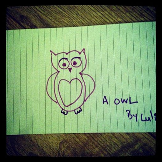 simple drawing of an owl