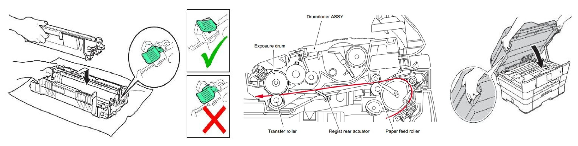 hight resolution of brother printer how to reset low toner message after replace laser toner cartridge