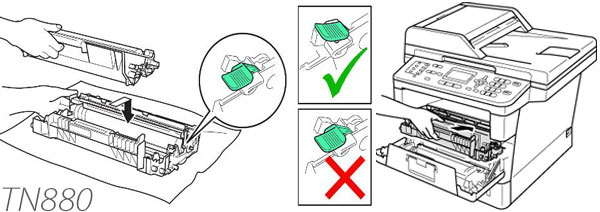 Instruction How to reset Cartridge For Brother TN880 Low