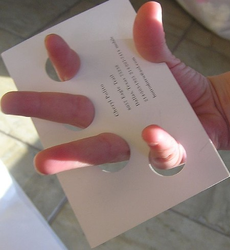 Manicurist business card design
