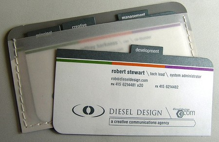 Diesel Design business card design