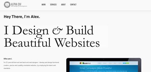 30 Beautiful Portfolio Websites CrazyLeaf Design Blog