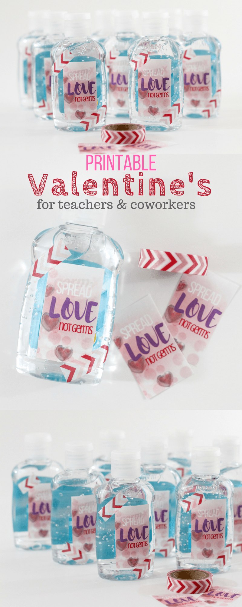 Printable Valentine's for Coworkers, Teachers and Nurses