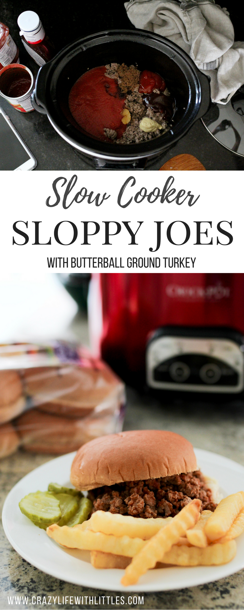 Easy Weeknight Dinners, Slow Cooker Sloppy Joes, Crockpot Sloppy Joes, Butterball Ground Turkey recipes