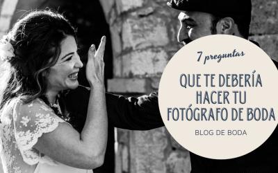 Las preguntas que te hará tu fotógrafo de boda
