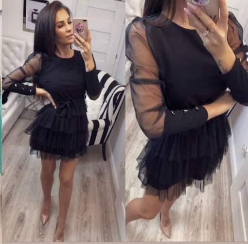 Vestido negro precioso