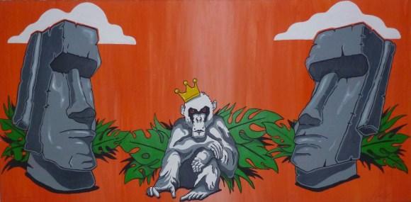 Who´s the king? 100 x 60 Acryl auf Leinwand