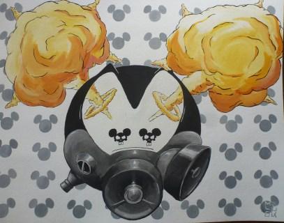 """War Disney"" - 50 x63 cm - Acryl auf Karton"