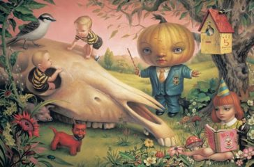 The Pumpkin President (No. 5), Oil on canvas, 101.6 x 152.4 cm. (40 x 60 in.), 1998 Copyright: Mark Ryden/ Courtesy TASCHEN