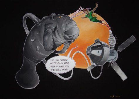 """""""Eine Seekuh im Weltall"""" -Das Bild gab den Ausschlag für den Titel des SZ-Artikels von Lea Binzer"""