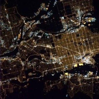 Kanadyjskie Vancouver widziane z kosmosu. Fot. Chris Hadfield