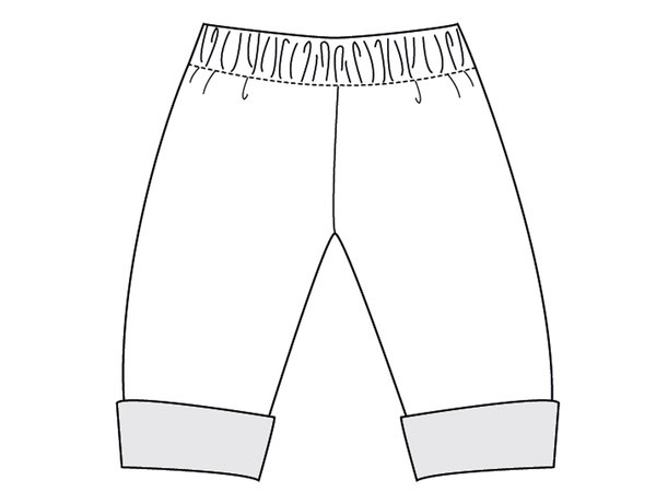 FIOCCO Kids Baby Boy Girl PANTS sewing pattern pdf, easy