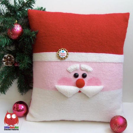 176 knitting pattern santa and snowman christmas pillow cases with pillows amigurumi pdf file by zabelina cp
