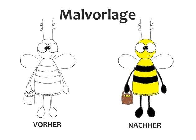 Malvorlage Biene - PDF Datei