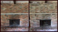 Whitewashing Brick Fireplace