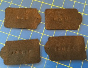 leather tags personalized