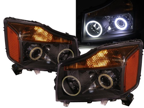 small resolution of more views crazythegod armada wa60 first generation 2004 2007 suv cob projector headlight headlamp black for nissan rhd
