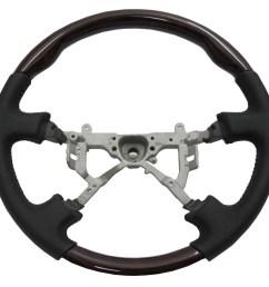 crazythegod lx470 1998 2002 steering wheel oe dark walnut wood black leather for lexus [ 1600 x 1200 Pixel ]