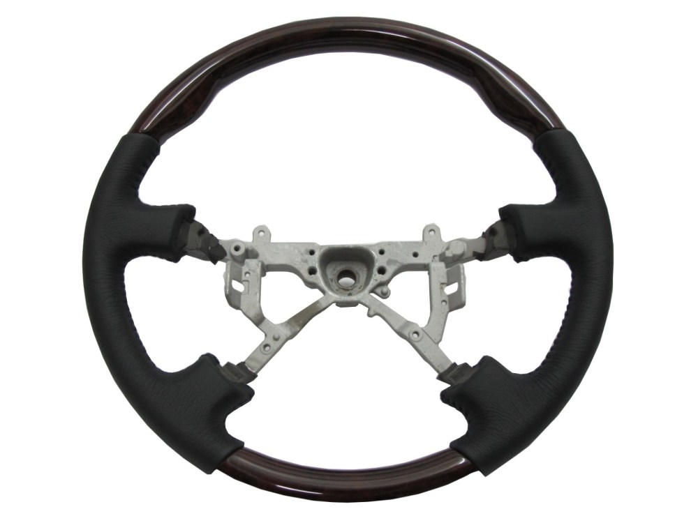 medium resolution of crazythegod lx470 1998 2002 steering wheel oe dark walnut wood black leather for lexus